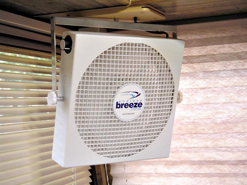 Fan endless breeze 14 inch square portable free for 12 volt window fan
