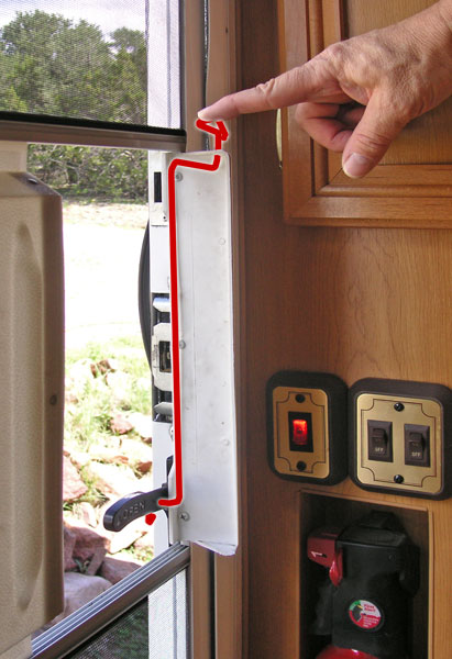 Rv Net Open Roads Forum Toilet Handle As Screen Door Opener